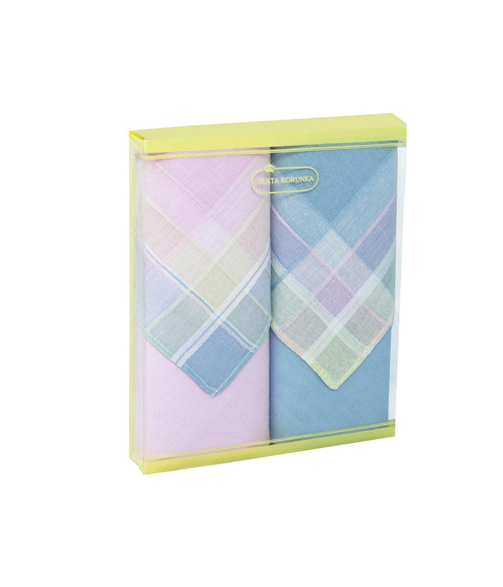 71225-7 Zlata Korunka Носовой платок женский, цвет: мультиколор, 34х34 см, 2 шт71225-7Платки носовые женские в упаковке по 2 шт. Носовые платки изготовлены из 100% хлопка, так как этот материал приятен в использовании, хорошо стирается, не садится, отлично впитывает влагу.
