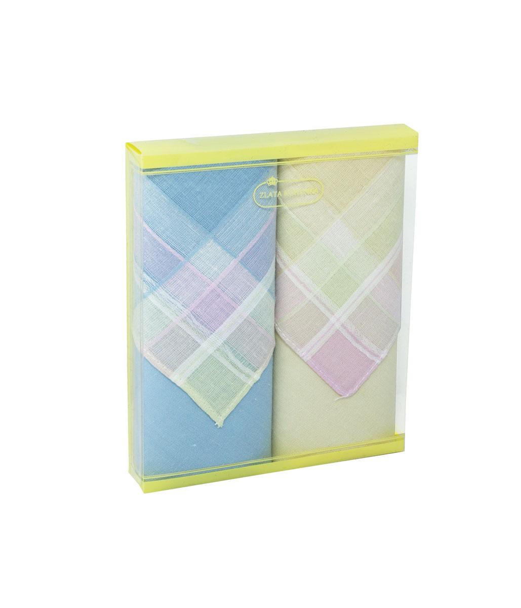 71225-8 Zlata Korunka Носовой платок женский, цвет: мультиколор, 34х34 см, 2 шт71225-8Платки носовые женские в упаковке по 2 шт. Носовые платки изготовлены из 100% хлопка, так как этот материал приятен в использовании, хорошо стирается, не садится, отлично впитывает влагу.