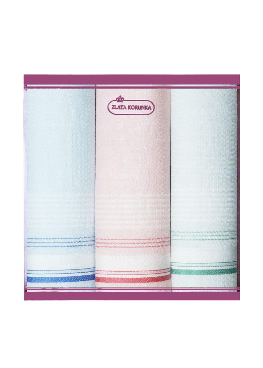 71321-5 Zlata Korunka Носовой платок женский, цвет: мультиколор, 34х34 см, 3 шт71321-5Платки носовые женские в упаковке по 3 шт. Носовые платки изготовлены из 100% хлопка, так как этот материал приятен в использовании, хорошо стирается, не садится, отлично впитывает влагу.