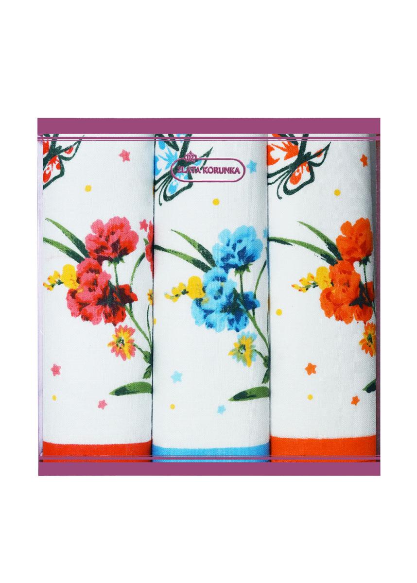 71321-6 Zlata Korunka Носовой платок женский, цвет: мультиколор, 34х34 см, 3 шт71321-6Платки носовые женские в упаковке по 3 шт. Носовые платки изготовлены из 100% хлопка, так как этот материал приятен в использовании, хорошо стирается, не садится, отлично впитывает влагу.