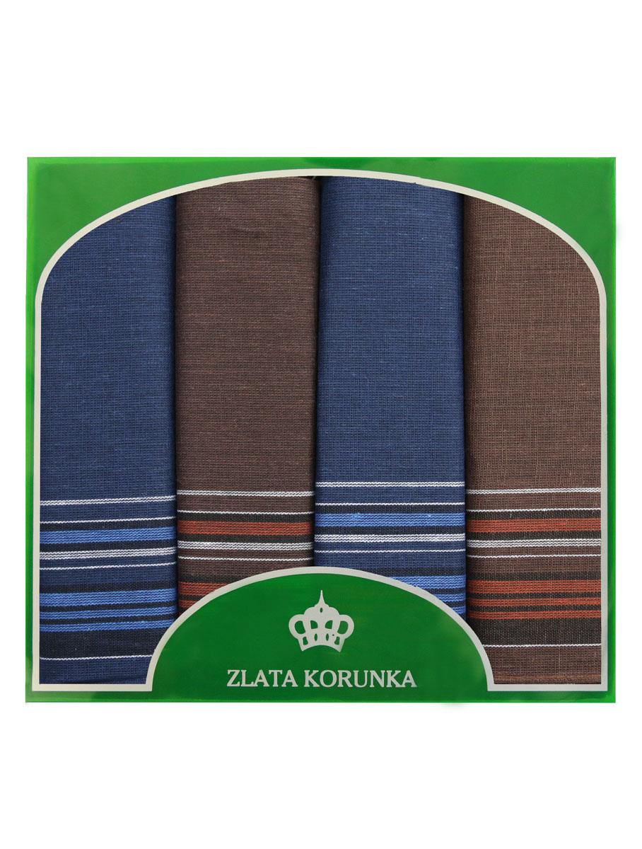 71419-1 Zlata Korunka Носовой платок мужской, цвет: мультиколор, 34х34 см, 4 шт71419-1Платки носовые мужские в упаковке по 4 шт. Носовые платки изготовлены из 100% хлопка, так как этот материал приятен в использовании, хорошо стирается, не садится, отлично впитывает влагу.