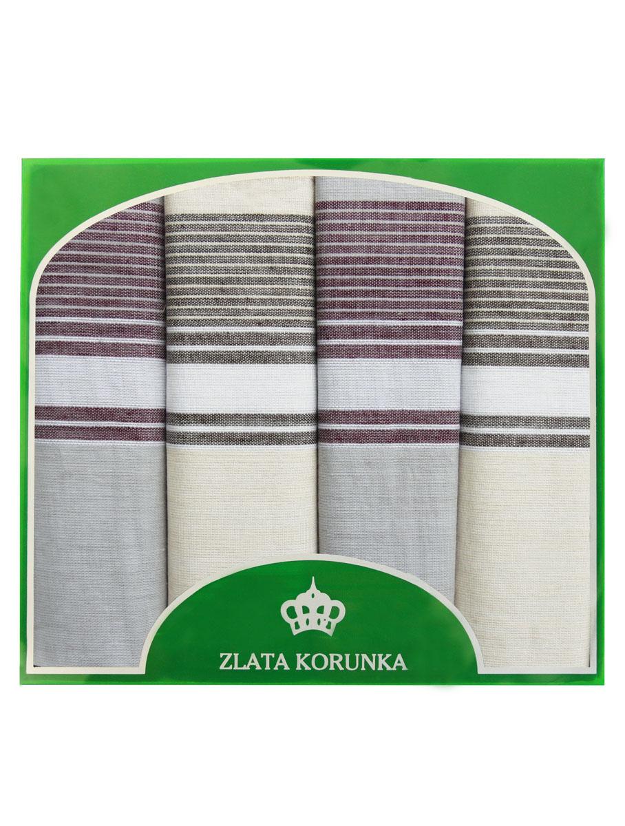 71419-11 Zlata Korunka Носовой платок мужской, цвет: мультиколор, 34х34 см, 4 шт71419-11Платки носовые мужские в упаковке по 4 шт. Носовые платки изготовлены из 100% хлопка, так как этот материал приятен в использовании, хорошо стирается, не садится, отлично впитывает влагу.
