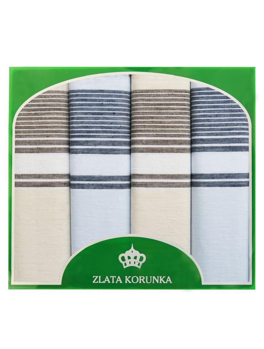 71419-12 Zlata Korunka Носовой платок мужской, цвет: мультиколор, 34х34 см, 4 шт71419-12Платки носовые мужские в упаковке по 4 шт. Носовые платки изготовлены из 100% хлопка, так как этот материал приятен в использовании, хорошо стирается, не садится, отлично впитывает влагу.