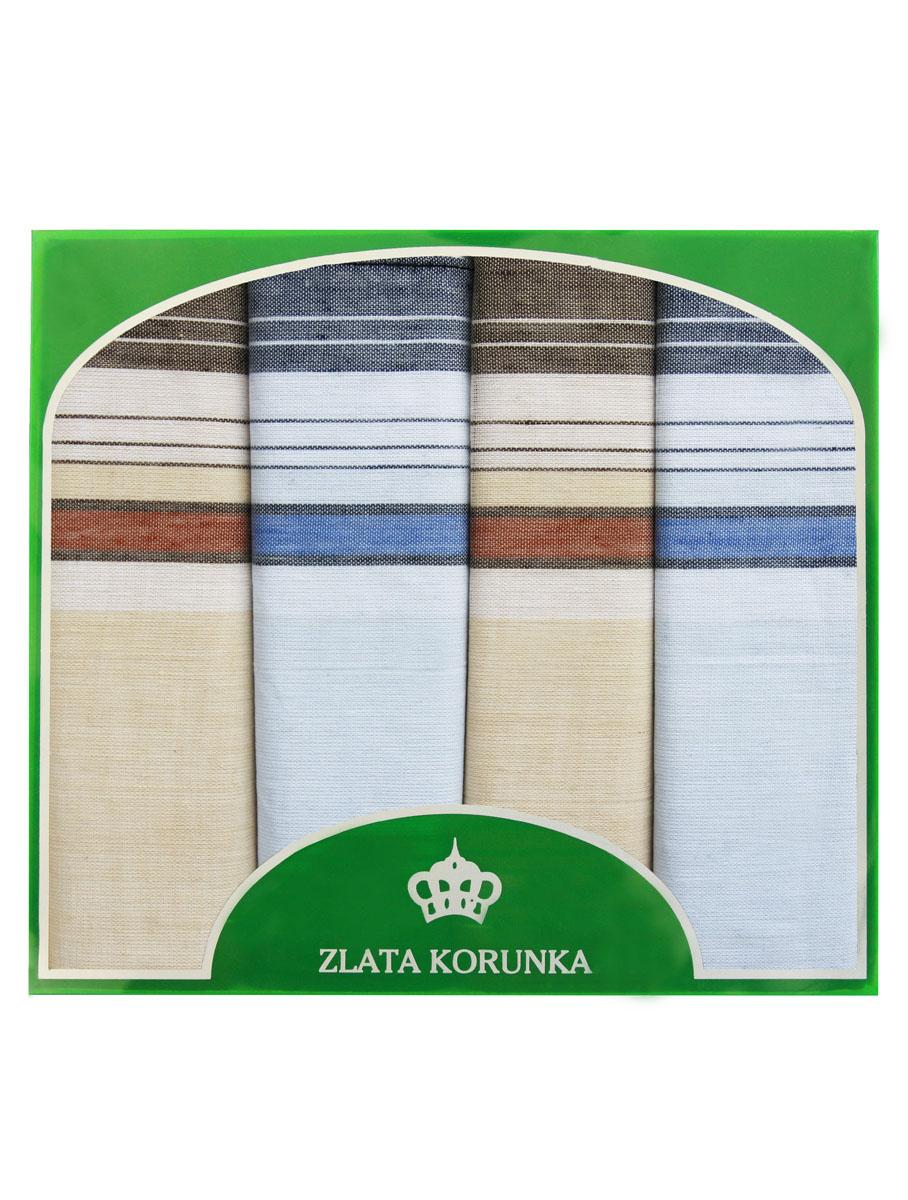 71419-13 Zlata Korunka Носовой платок мужской, цвет: мультиколор, 34х34 см, 4 шт71419-13Платки носовые мужские в упаковке по 4 шт. Носовые платки изготовлены из 100% хлопка, так как этот материал приятен в использовании, хорошо стирается, не садится, отлично впитывает влагу.
