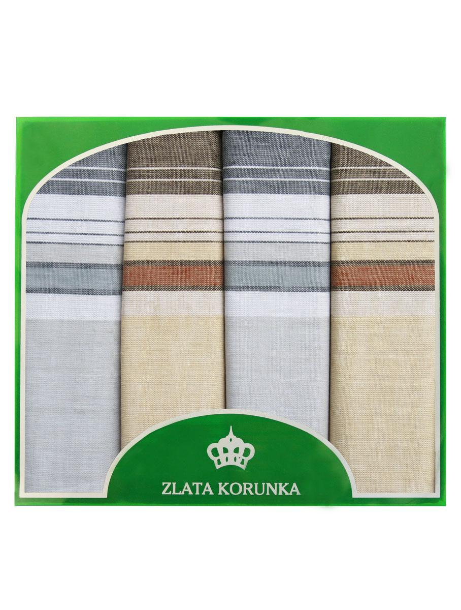 71419-14 Zlata Korunka Носовой платок мужской, цвет: мультиколор, 34х34 см, 4 шт71419-14Платки носовые мужские в упаковке по 4 шт. Носовые платки изготовлены из 100% хлопка, так как этот материал приятен в использовании, хорошо стирается, не садится, отлично впитывает влагу.