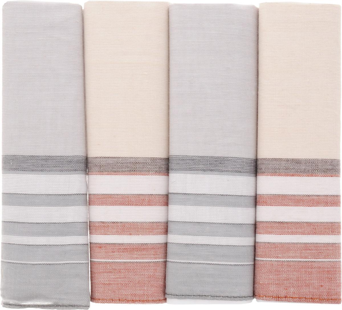 71419-17 Zlata Korunka Носовой платок мужской, цвет: мультиколор, 34х34 см, 4 шт71419-17Платки носовые мужские в упаковке по 4 шт. Носовые платки изготовлены из 100% хлопка, так как этот материал приятен в использовании, хорошо стирается, не садится, отлично впитывает влагу.