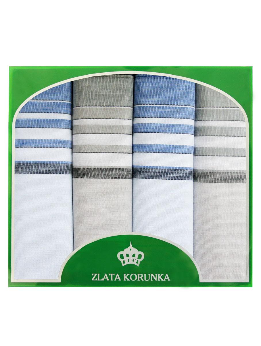 71419-18 Zlata Korunka Носовой платок мужской, цвет: мультиколор, 34х34 см, 4 шт71419-18Платки носовые мужские в упаковке по 4 шт. Носовые платки изготовлены из 100% хлопка, так как этот материал приятен в использовании, хорошо стирается, не садится, отлично впитывает влагу.