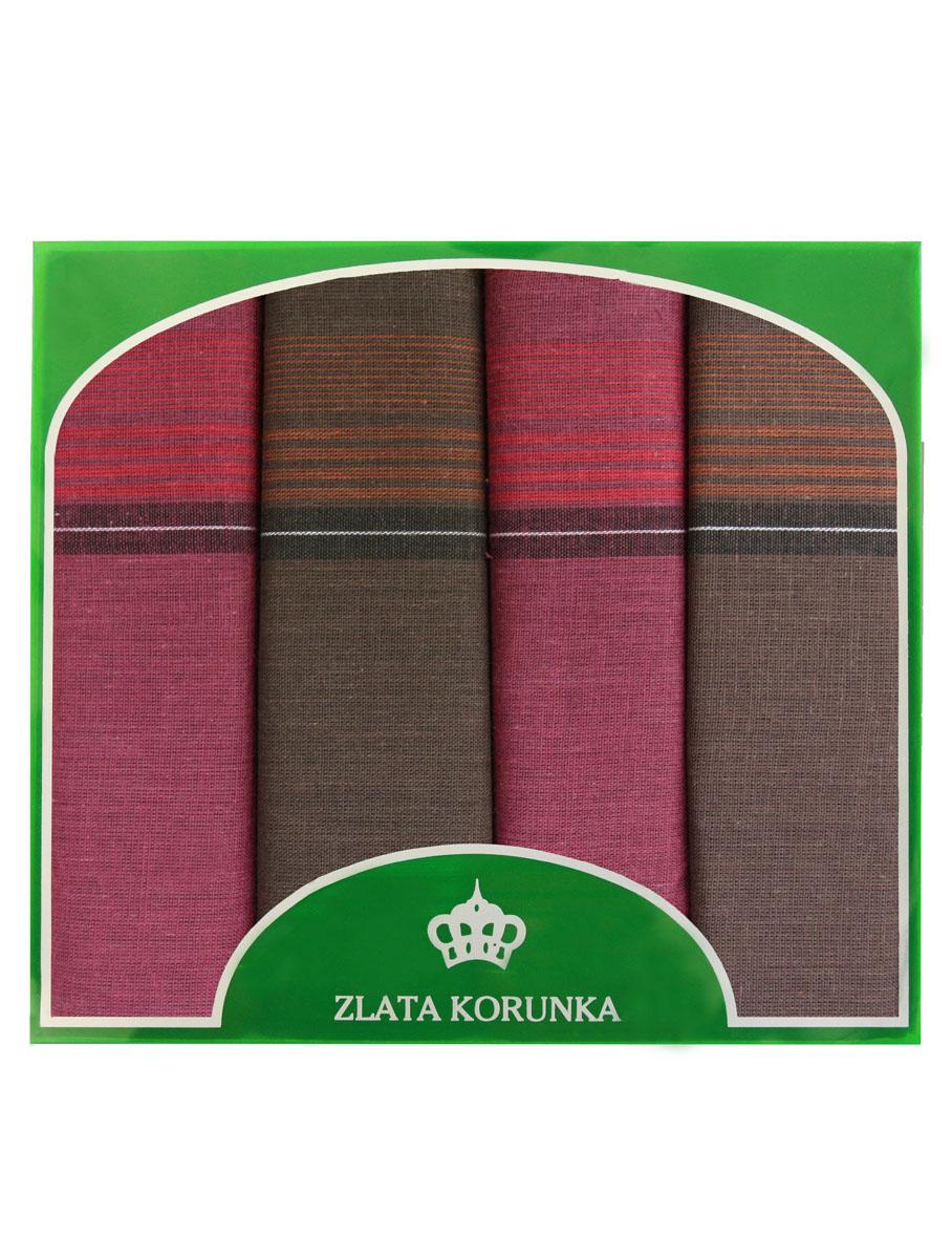 71419-19 Zlata Korunka Носовой платок мужской, цвет: мультиколор, 34х34 см, 4 шт71419-19Платки носовые мужские в упаковке по 4 шт. Носовые платки изготовлены из 100% хлопка, так как этот материал приятен в использовании, хорошо стирается, не садится, отлично впитывает влагу.