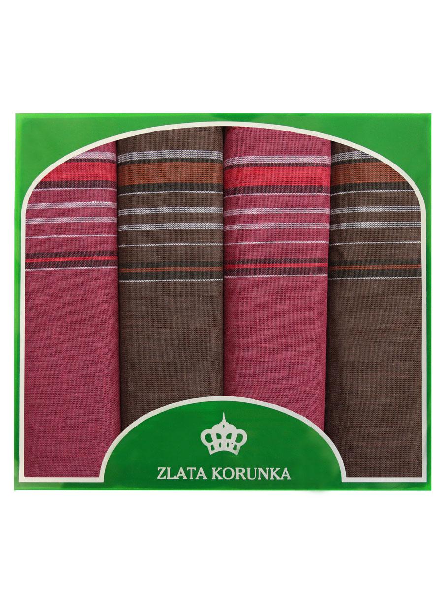 71419-22 Zlata Korunka Носовой платок мужской, цвет: мультиколор, 34х34 см, 4 шт71419-22Платки носовые мужские в упаковке по 4 шт. Носовые платки изготовлены из 100% хлопка, так как этот материал приятен в использовании, хорошо стирается, не садится, отлично впитывает влагу.