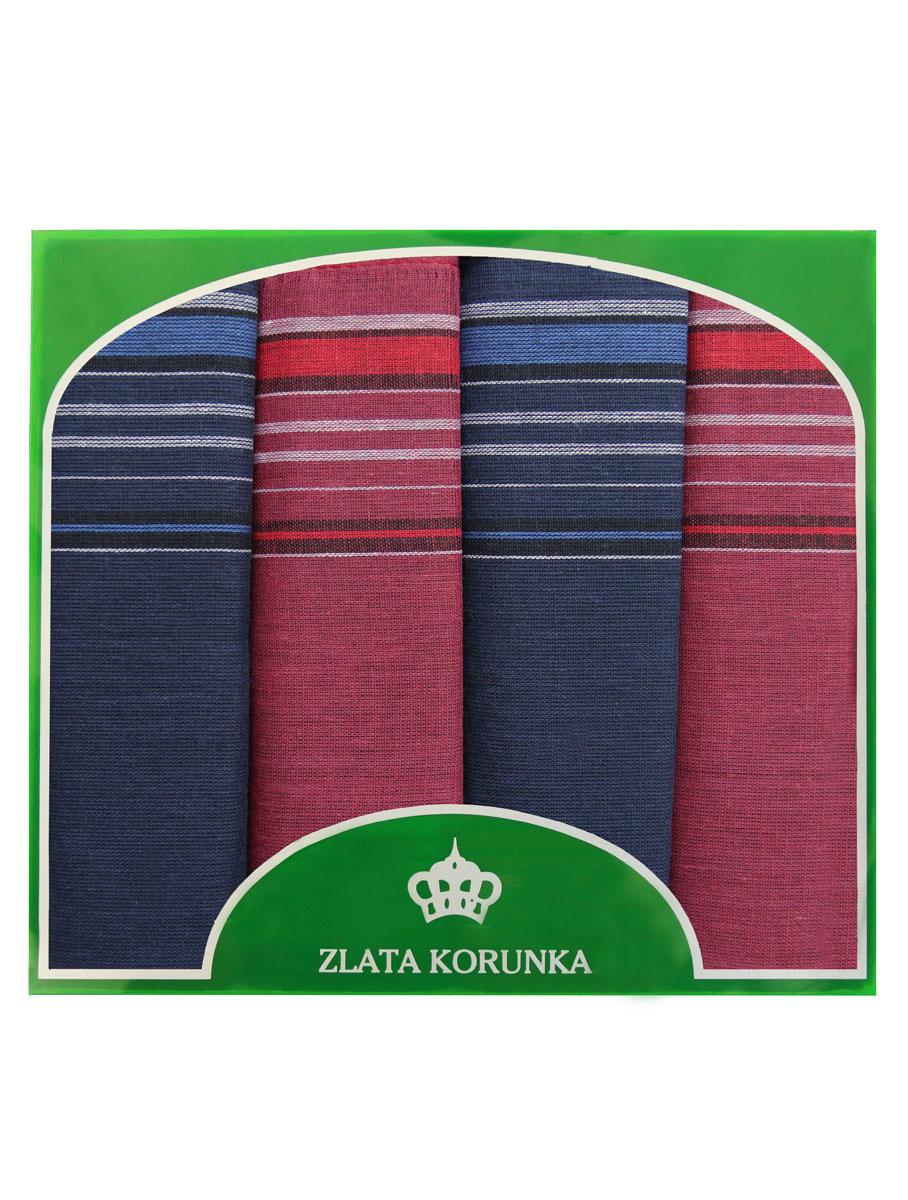 71419-23 Zlata Korunka Носовой платок мужской, цвет: мультиколор, 34х34 см, 4 шт71419-23Платки носовые мужские в упаковке по 4 шт. Носовые платки изготовлены из 100% хлопка, так как этот материал приятен в использовании, хорошо стирается, не садится, отлично впитывает влагу.