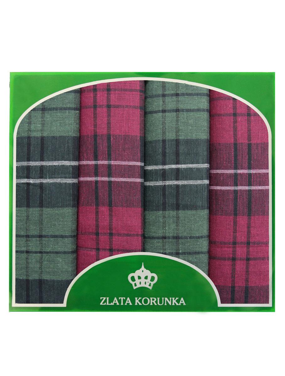 71419-28 Zlata Korunka Носовой платок мужской, цвет: мультиколор, 34х34 см, 4 шт71419-28Платки носовые мужские в упаковке по 4 шт. Носовые платки изготовлены из 100% хлопка, так как этот материал приятен в использовании, хорошо стирается, не садится, отлично впитывает влагу.