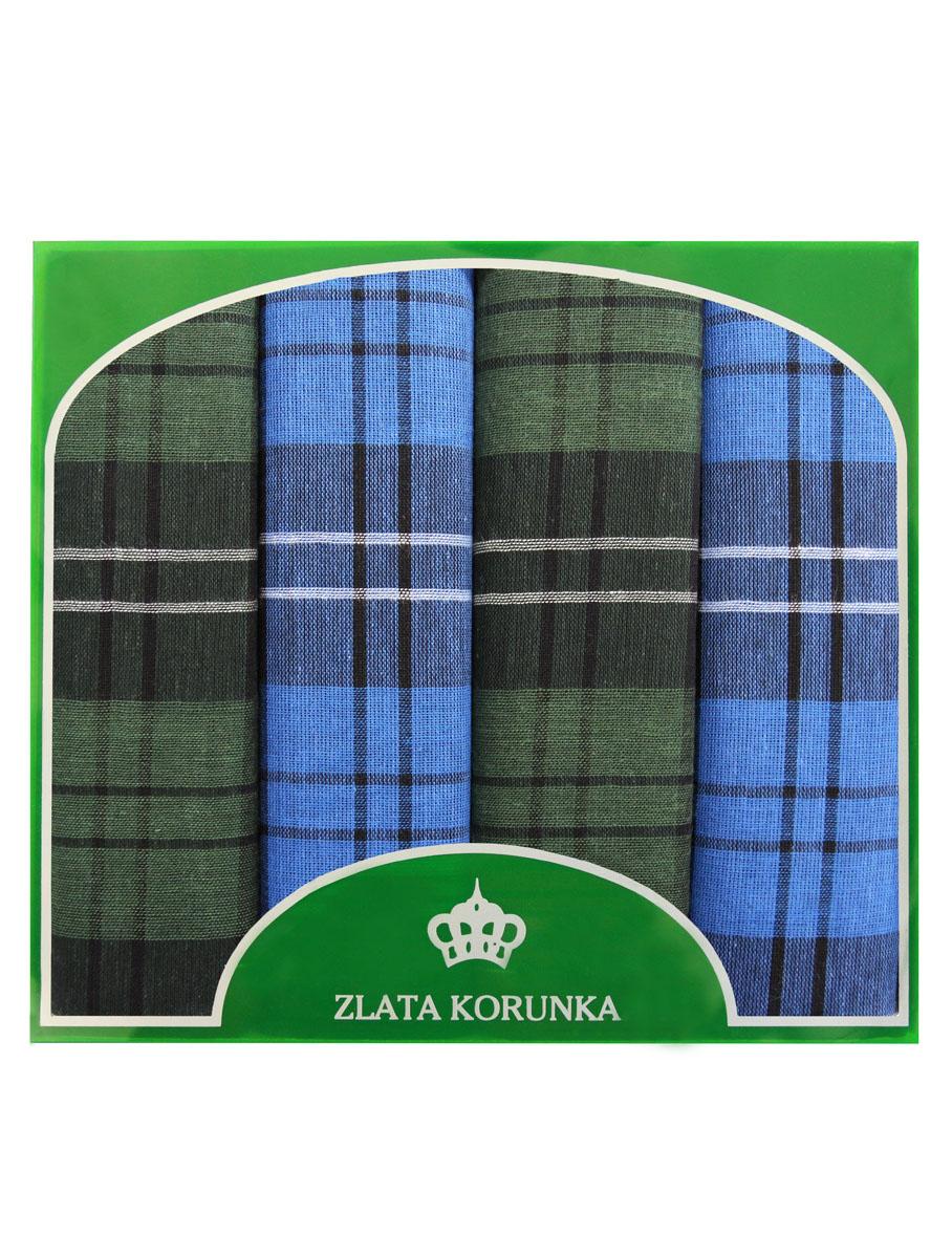 71419-30 Zlata Korunka Носовой платок мужской, цвет: мультиколор, 34х34 см, 4 шт71419-30Платки носовые мужские в упаковке по 4 шт. Носовые платки изготовлены из 100% хлопка, так как этот материал приятен в использовании, хорошо стирается, не садится, отлично впитывает влагу.