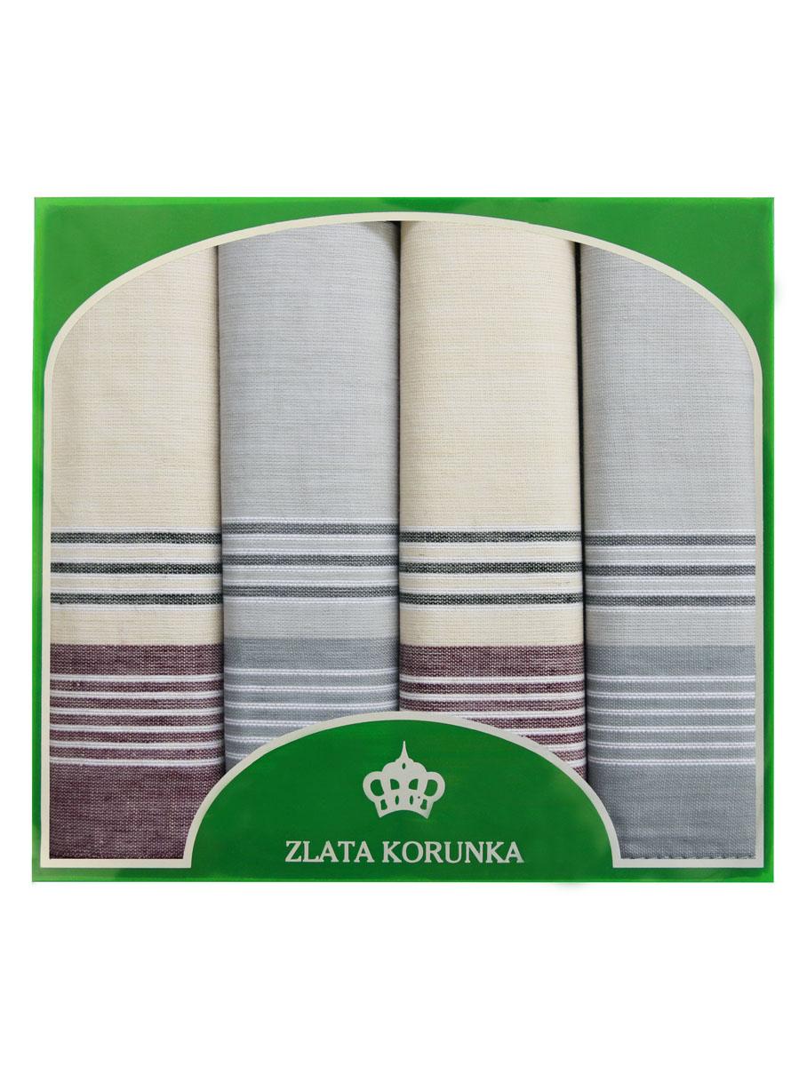 Платок носовой мужской Zlata Korunka, цвет: мультиколор, 4 шт. 71419-5. Размер 34 см х 34 см71419-5Оригинальный мужской носовой платок Zlata Korunka изготовлен из высококачественного натурального хлопка, благодаря чему приятен в использовании, хорошо стирается, не садится и отлично впитывает влагу. Практичный и изящный носовой платок будет незаменим в повседневной жизни любого современного человека. Такой платок послужит стильным аксессуаром и подчеркнет ваше превосходное чувство вкуса. В комплекте 4 платка.
