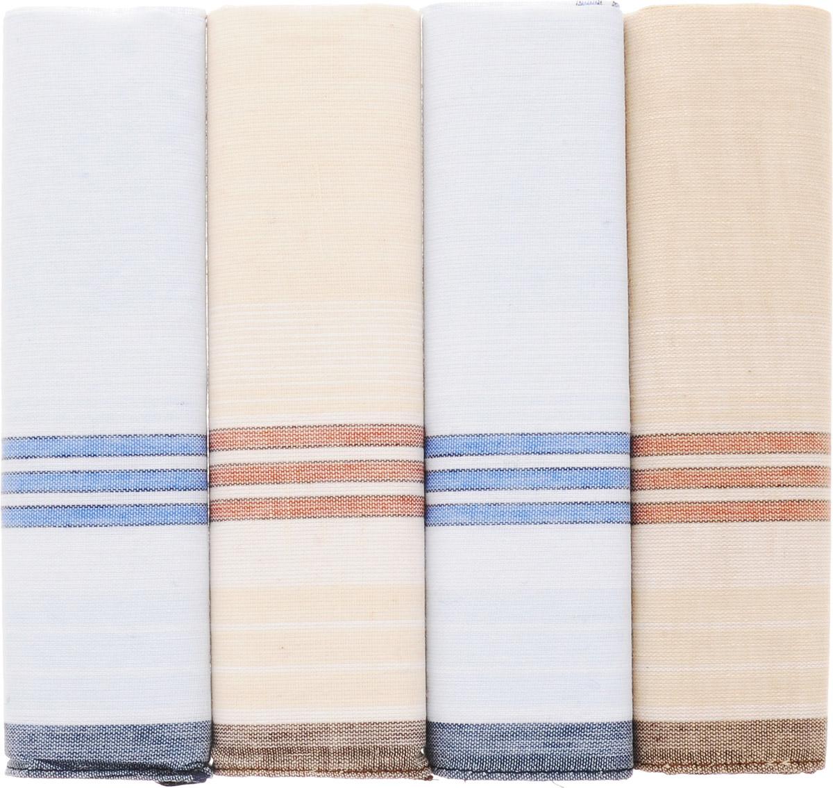 71419-7 Zlata Korunka Носовой платок мужской, цвет: мультиколор, 34х34 см, 4 шт71419-7Платки носовые мужские в упаковке по 4 шт. Носовые платки изготовлены из 100% хлопка, так как этот материал приятен в использовании, хорошо стирается, не садится, отлично впитывает влагу.