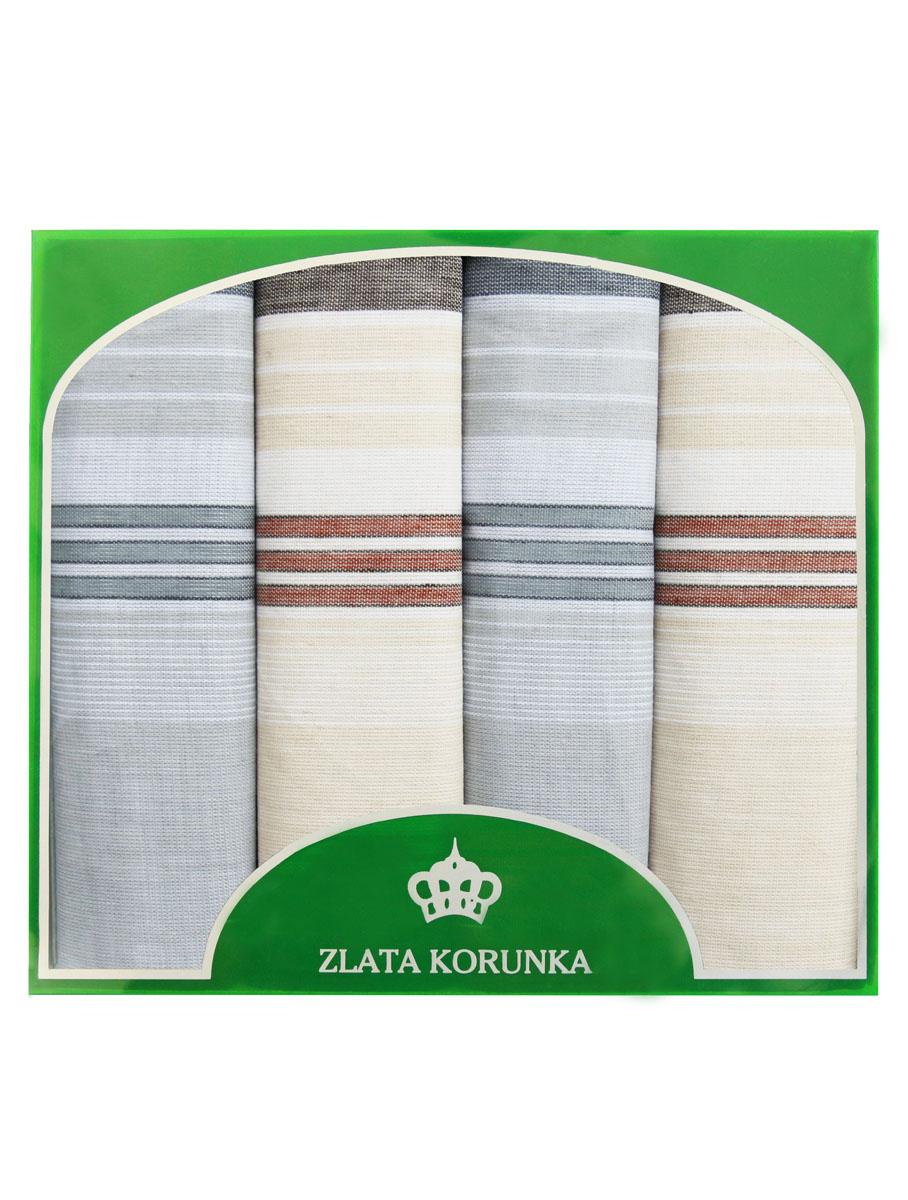 71419-8 Zlata Korunka Носовой платок мужской, цвет: мультиколор, 34х34 см, 4 шт71419-8Платки носовые мужские в упаковке по 4 шт. Носовые платки изготовлены из 100% хлопка, так как этот материал приятен в использовании, хорошо стирается, не садится, отлично впитывает влагу.