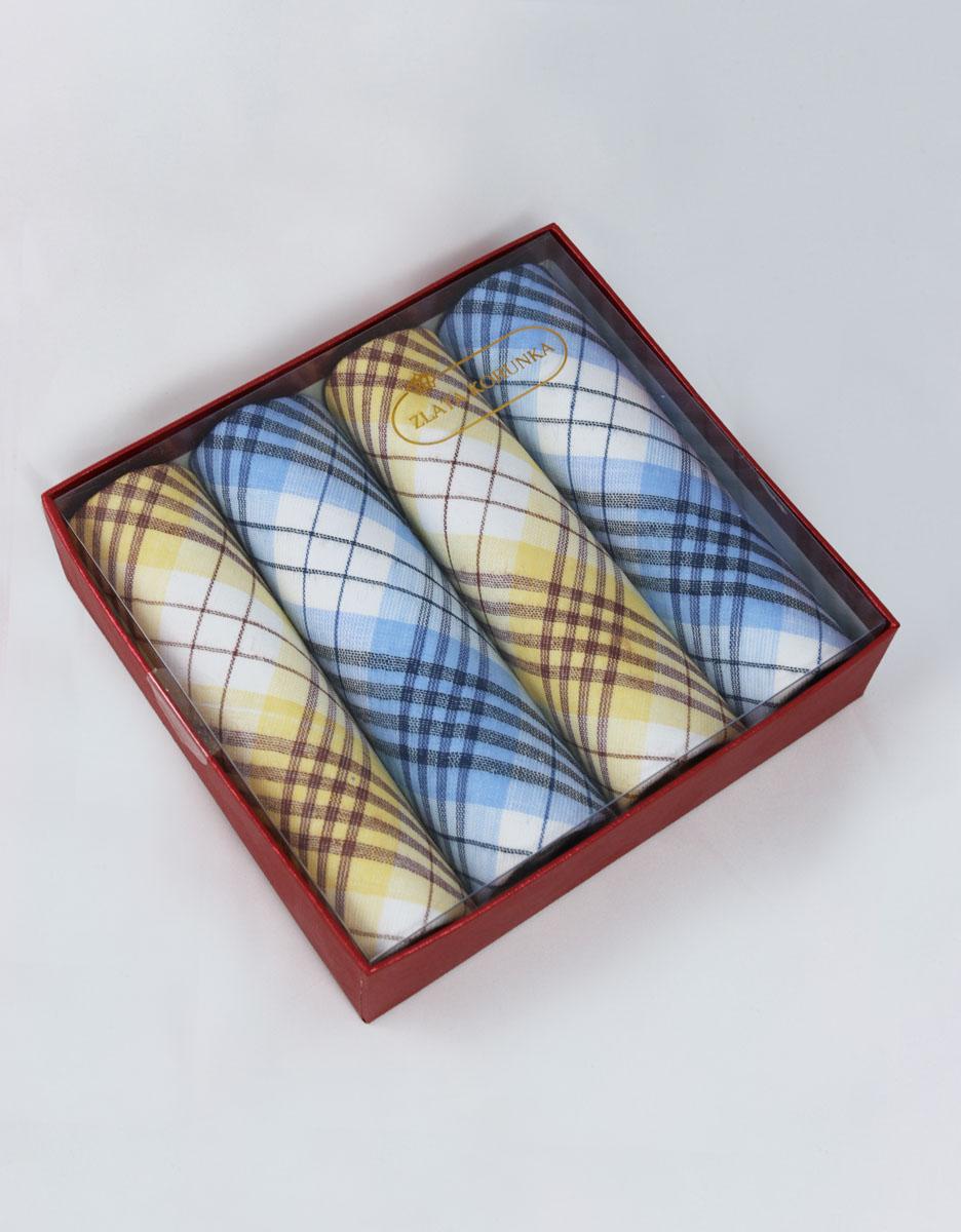 71420-12 Zlata Korunka Носовой платок женский, цвет: мультиколор, 29х29 см, 4 шт71420-12Небольшой женский носовой платок Zlata Korunka изготовлен из высококачественного натурального хлопка, благодаря чему приятен в использовании, хорошо стирается, не садится и отлично впитывает влагу. Практичный и изящный носовой платок будет незаменим в повседневной жизни любого современного человека. Такой платок послужит стильным аксессуаром и подчеркнет ваше превосходное чувство вкуса. В комплекте 4 платка.