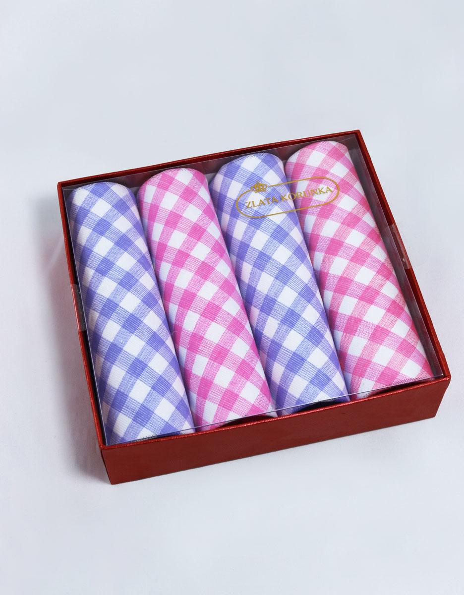 71420-2 Zlata Korunka Носовой платок женский, цвет: мультиколор, 29х29 см, 4 шт71420-2Платки носовые женские в упаковке по 4 шт. Носовые платки изготовлены из 100% хлопка, так как этот материал приятен в использовании, хорошо стирается, не садится, отлично впитывает влагу.