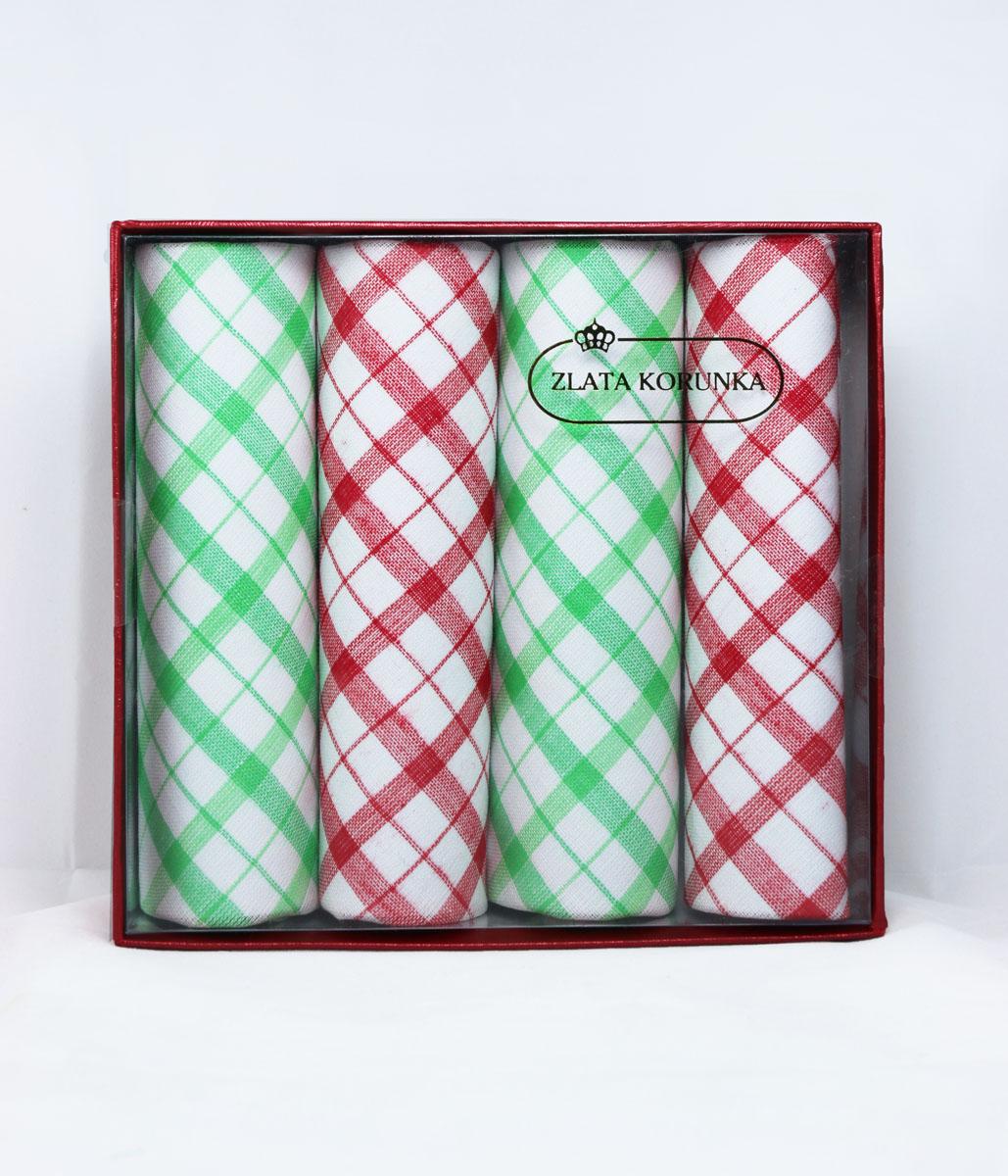 Платок носовой женский Zlata Korunka, цвет: мультиколор, 4 шт. 71420-6. Размер 29 см х 29 см71420-6Небольшой женский носовой платок Zlata Korunka изготовлен из высококачественного натурального хлопка, благодаря чему приятен в использовании, хорошо стирается, не садится и отлично впитывает влагу. Практичный и изящный носовой платок будет незаменим в повседневной жизни любого современного человека. Такой платок послужит стильным аксессуаром и подчеркнет ваше превосходное чувство вкуса. В комплекте 4 платка.