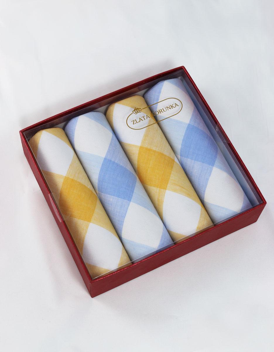 71420-9 Zlata Korunka Носовой платок женский, цвет: мультиколор, 29х29 см, 4 шт71420-9Платки носовые женские в упаковке по 4 шт. Носовые платки изготовлены из 100% хлопка, так как этот материал приятен в использовании, хорошо стирается, не садится, отлично впитывает влагу.