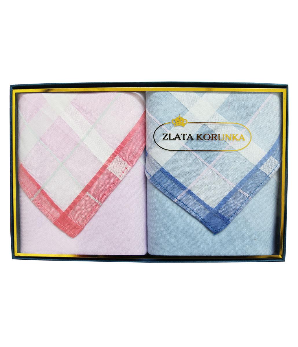 90220-1 Zlata Korunka Носовой платок женский, цвет: мультиколор, 28х28 см, 2 шт90220-1Платки носовые женские в упаковке по 3 шт. Носовые платки изготовлены из 100% хлопка, так как этот материал приятен в использовании, хорошо стирается, не садится, отлично впитывает влагу.