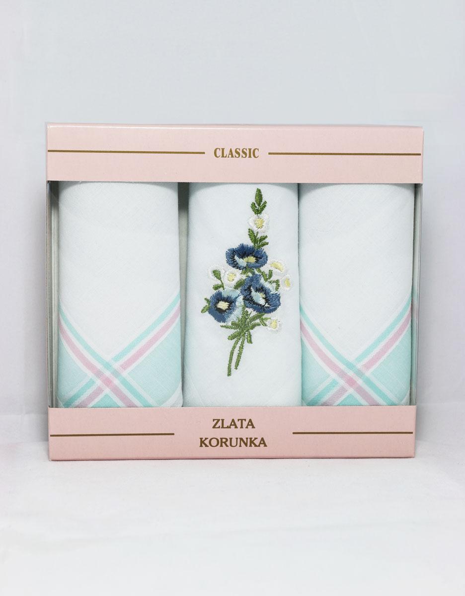 90329-48 Zlata Korunka Носовой платок женский, цвет: мультиколор, 29х29 см, 3 шт90329-48Платки носовые женские в упаковке по 3 шт. Носовые платки изготовлены из 100% хлопка, так как этот материал приятен в использовании, хорошо стирается, не садится, отлично впитывает влагу.