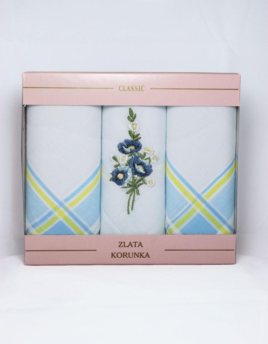 90329-50 Zlata Korunka Носовой платок женский, цвет: мультиколор, 29х29 см, 3 шт90329-50Платки носовые женские в упаковке по 3 шт. Носовые платки изготовлены из 100% хлопка, так как этот материал приятен в использовании, хорошо стирается, не садится, отлично впитывает влагу.