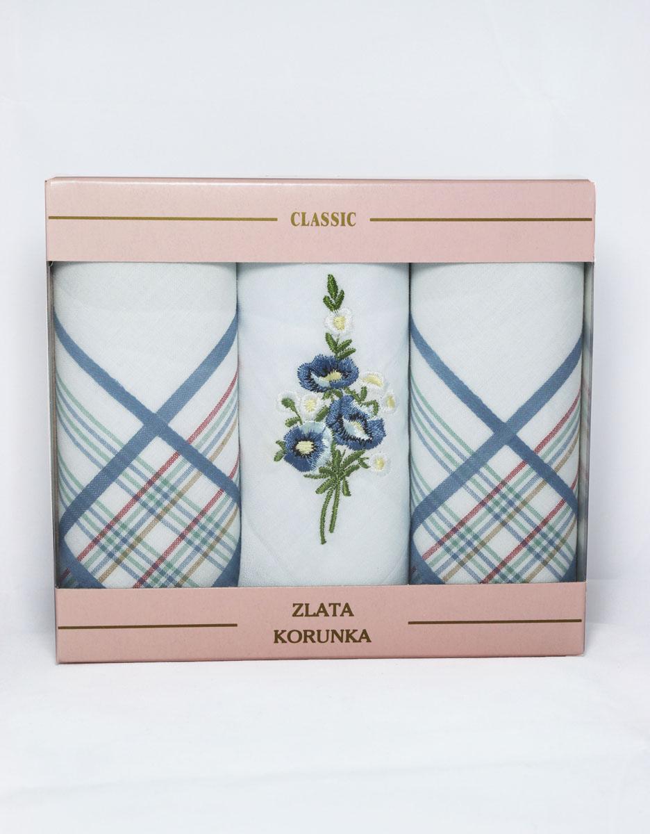 90329-51 Zlata Korunka Носовой платок женский, цвет: мультиколор, 29х29 см, 3 шт90329-51Платки носовые женские в упаковке по 3 шт. Носовые платки изготовлены из 100% хлопка, так как этот материал приятен в использовании, хорошо стирается, не садится, отлично впитывает влагу.