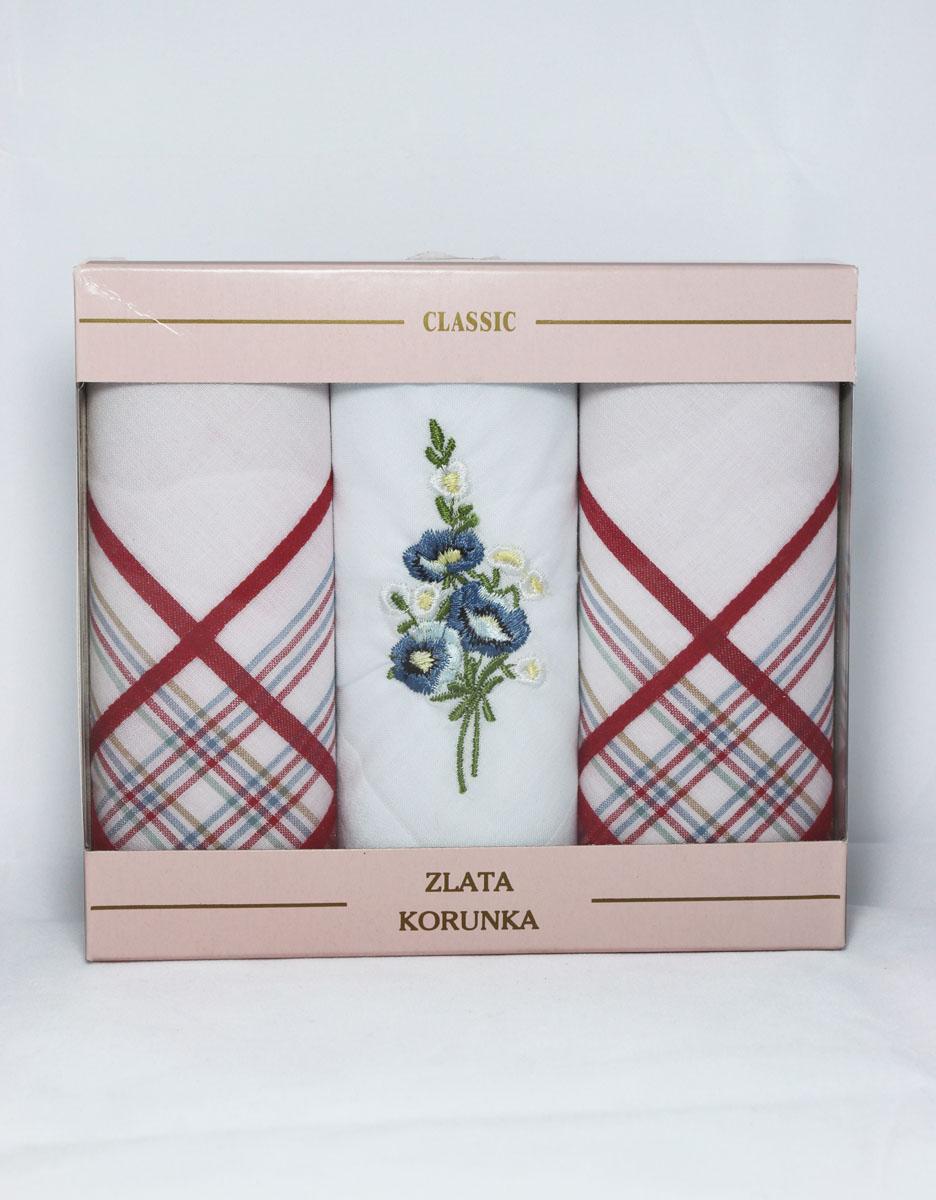 90329-53 Zlata Korunka Носовой платок женский, цвет: мультиколор, 29х29 см, 3 шт90329-53Платки носовые женские в упаковке по 3 шт. Носовые платки изготовлены из 100% хлопка, так как этот материал приятен в использовании, хорошо стирается, не садится, отлично впитывает влагу.
