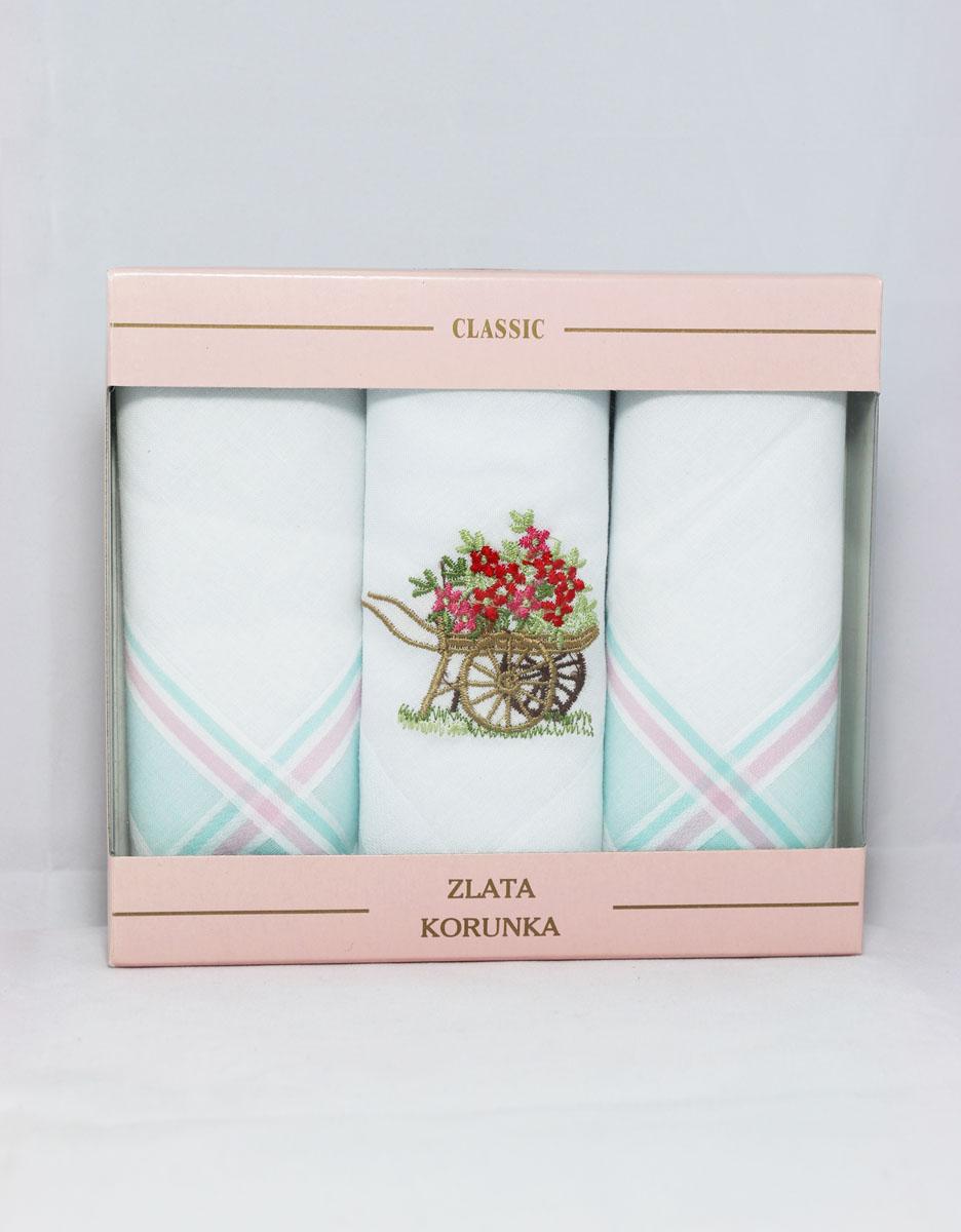 90329-60 Zlata Korunka Носовой платок женский, цвет: мультиколор, 29х29 см, 3 шт90329-60Платки носовые женские в упаковке по 3 шт. Носовые платки изготовлены из 100% хлопка, так как этот материал приятен в использовании, хорошо стирается, не садится, отлично впитывает влагу.