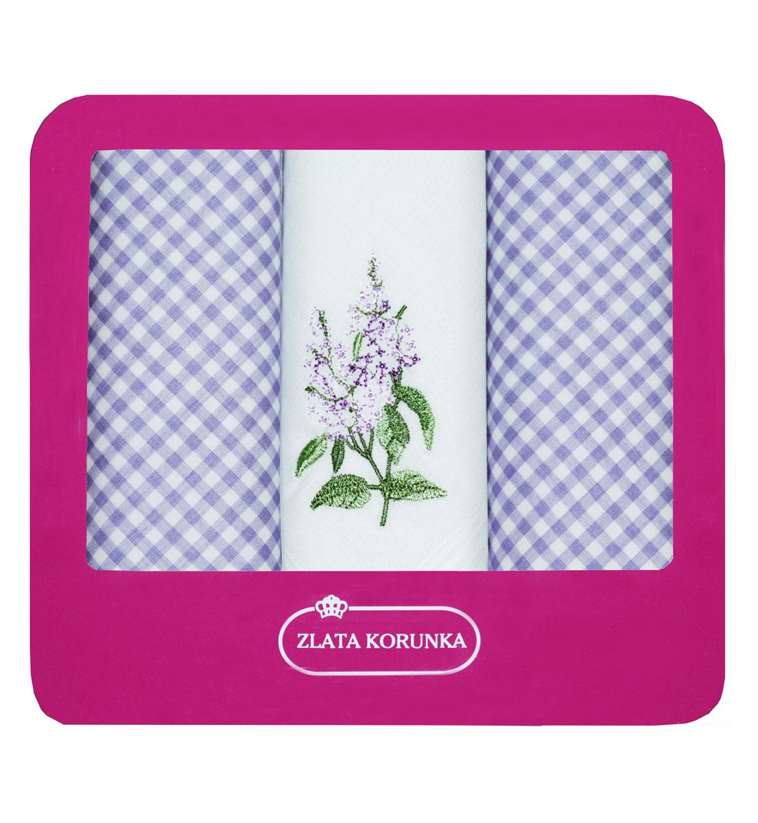90330-14 Zlata Korunka Носовой платок женский, цвет: мультиколор, 29х29 см, 3 шт90330-14Платки носовые женские в упаковке по 3 шт. Носовые платки изготовлены из 100% хлопка, так как этот материал приятен в использовании, хорошо стирается, не садится, отлично впитывает влагу.