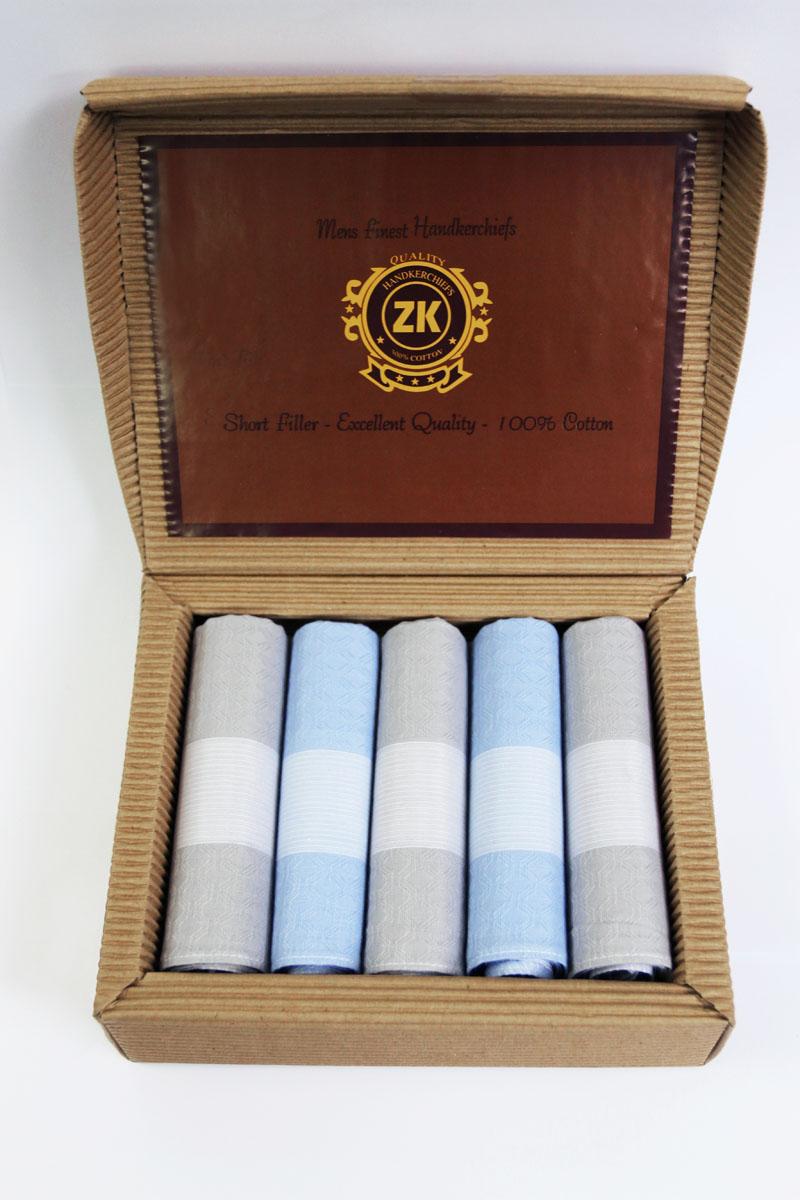90512-1 Zlata Korunka Носовой платок мужской, цвет: мультиколор, 29х29 см, 5 шт90512-1Платки носовые мужские по 5 шт. в упаковке. Носовые платки изготовлены из 100% хлопка, так как этот материал приятен в использовании, хорошо стирается, не садится, отлично впитывает влагу.
