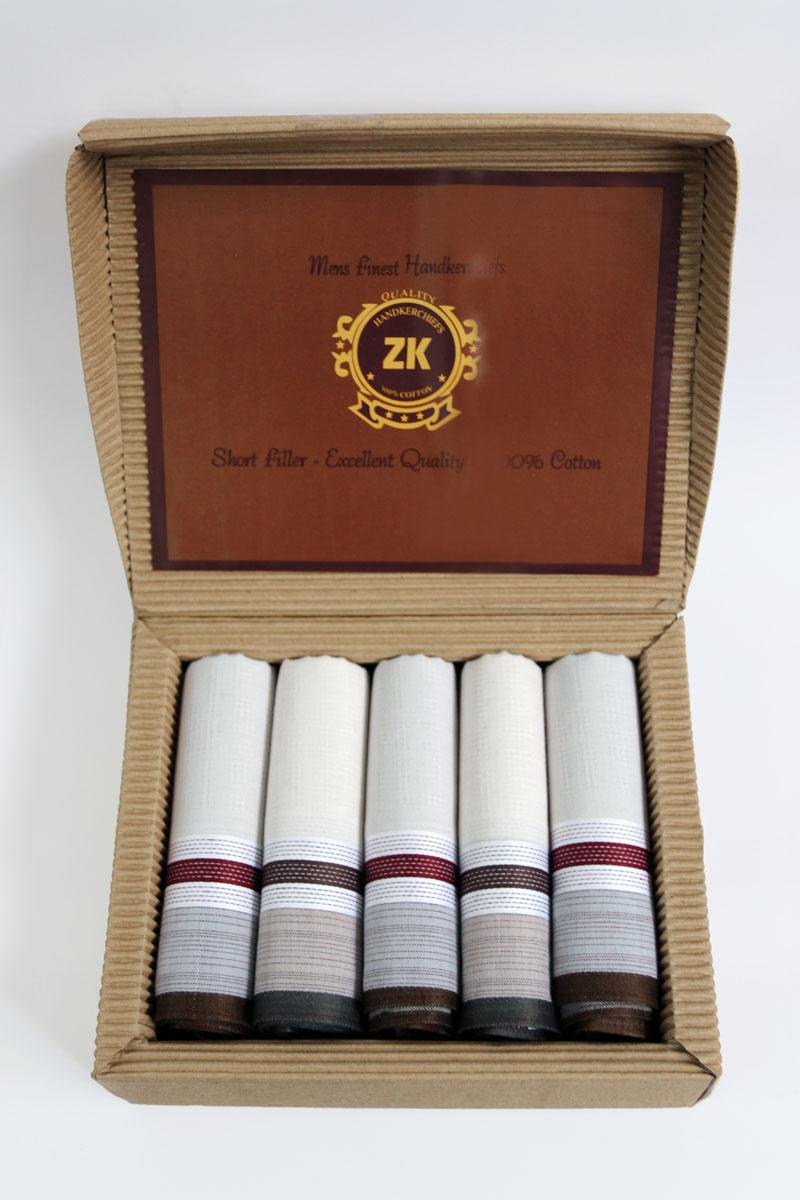 Платок носовой мужской Zlata Korunka, цвет: мультиколор, 5 шт. 90512-11. Размер 43 х 43 см90512-11Мужские носовые платки Zlata Korunka изготовлены из натурального хлопка, приятны в использовании, хорошо стираются, материал не садится и отлично впитывает влагу. В упаковке 5 штук.