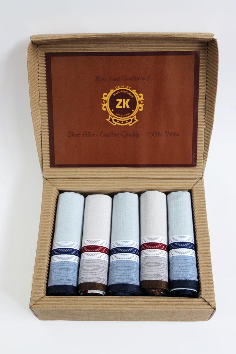 90512-12 Zlata Korunka Носовой платок мужской, цвет: мультиколор, 29х29 см, 5 шт90512-12Платки носовые мужские по 5 шт. в упаковке. Носовые платки изготовлены из 100% хлопка, так как этот материал приятен в использовании, хорошо стирается, не садится, отлично впитывает влагу.
