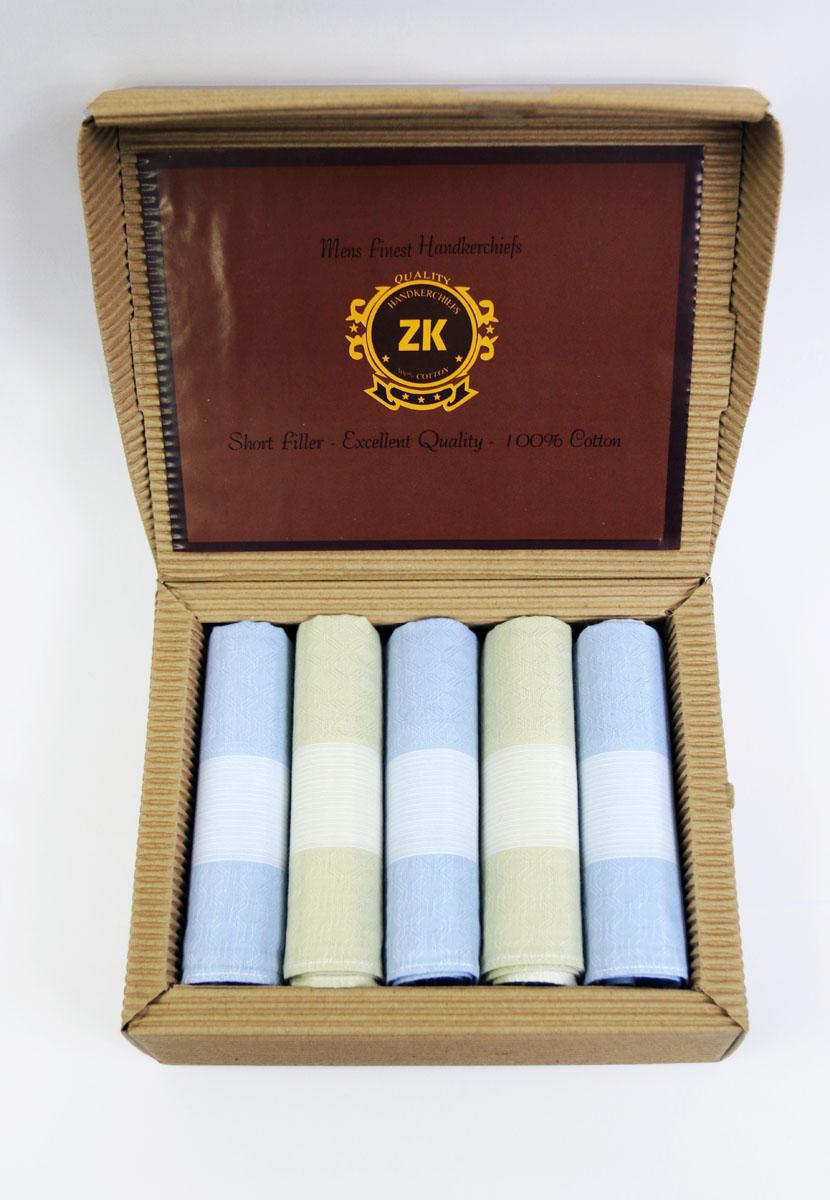 90512-2 Zlata Korunka Носовой платок мужской, цвет: мультиколор, 29х29 см, 5 шт90512-2Платки носовые мужские по 5 шт. в упаковке. Носовые платки изготовлены из 100% хлопка, так как этот материал приятен в использовании, хорошо стирается, не садится, отлично впитывает влагу.