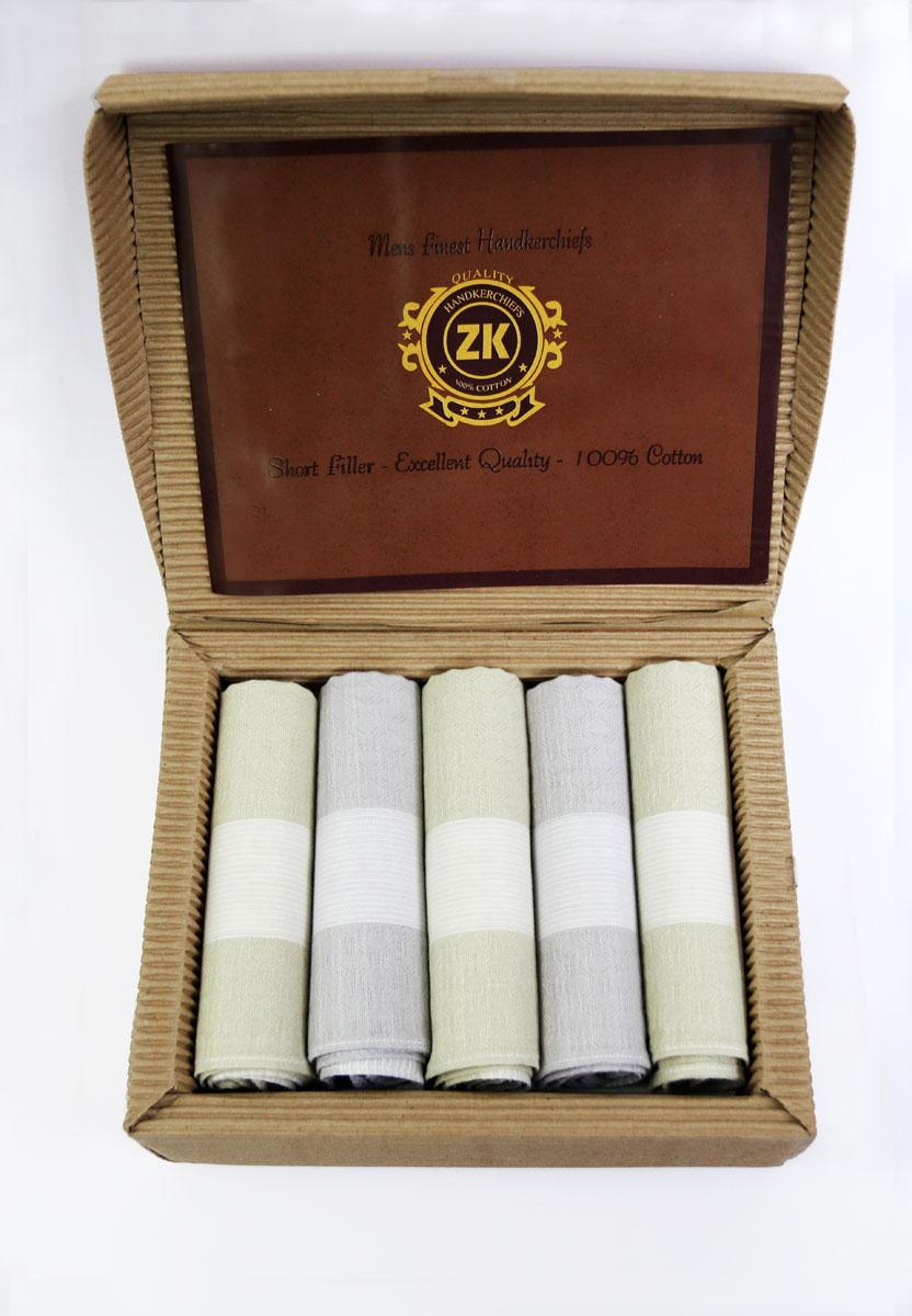 90512-3 Zlata Korunka Носовой платок мужской, цвет: мультиколор, 29х29 см, 5 шт90512-3Платки носовые мужские по 5 шт. в упаковке. Носовые платки изготовлены из 100% хлопка, так как этот материал приятен в использовании, хорошо стирается, не садится, отлично впитывает влагу.