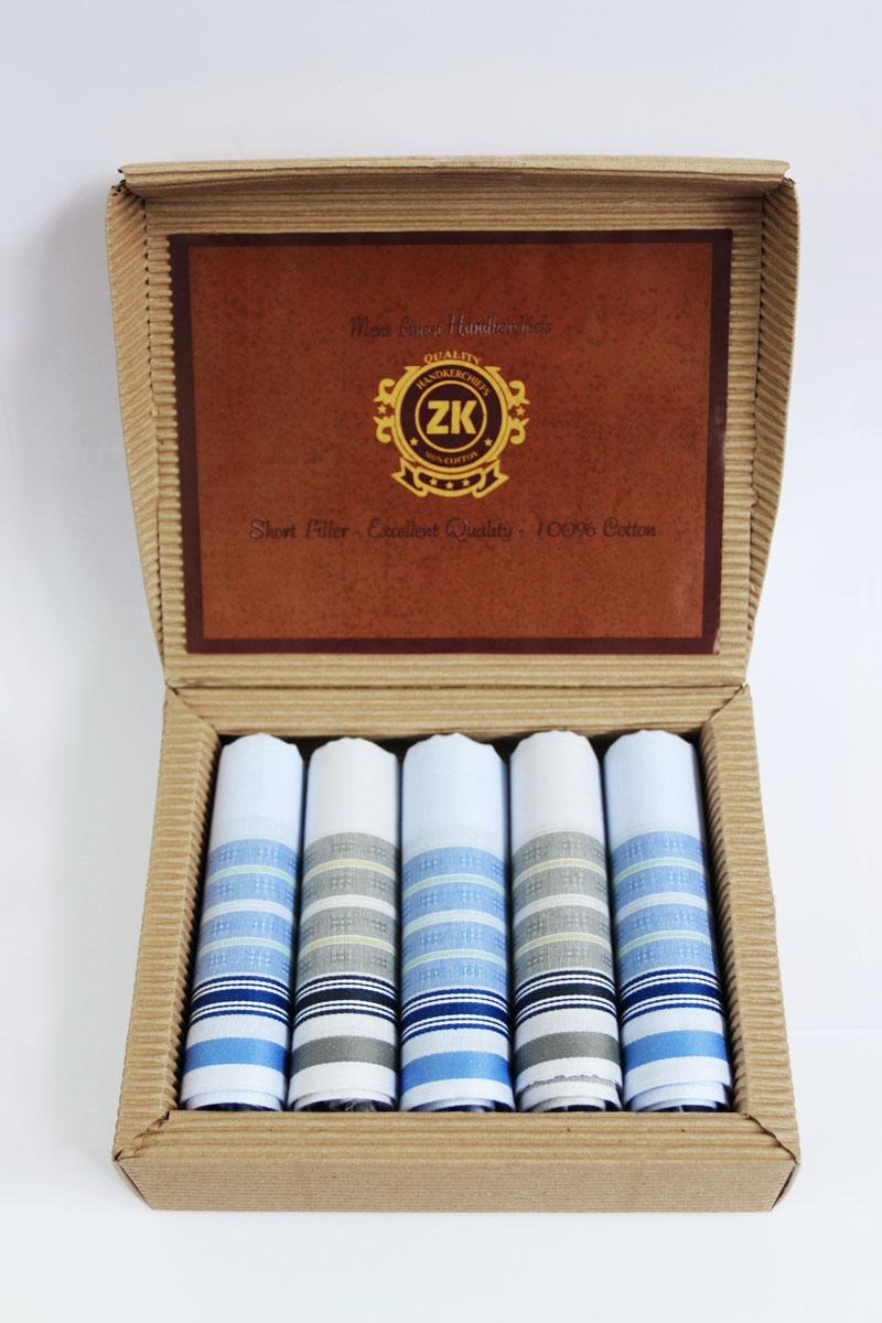 90512-4 Zlata Korunka Носовой платок мужской, цвет: мультиколор, 29х29 см, 5 шт90512-4Платки носовые мужские по 5 шт. в упаковке. Носовые платки изготовлены из 100% хлопка, так как этот материал приятен в использовании, хорошо стирается, не садится, отлично впитывает влагу.