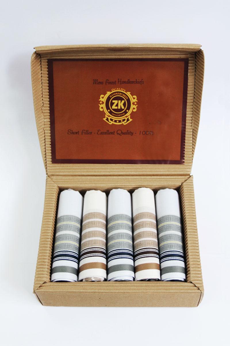 90512-6 Zlata Korunka Носовой платок мужской, цвет: мультиколор, 29х29 см, 5 шт90512-6Платки носовые мужские по 5 шт. в упаковке. Носовые платки изготовлены из 100% хлопка, так как этот материал приятен в использовании, хорошо стирается, не садится, отлично впитывает влагу.