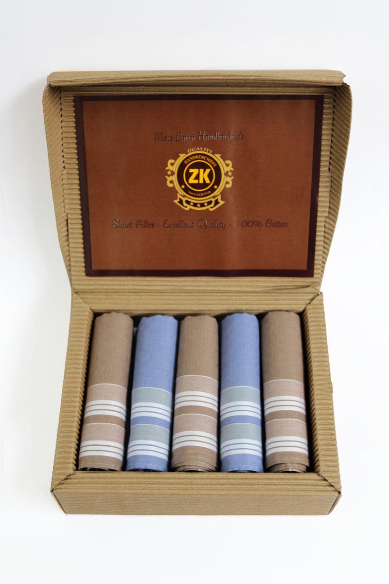 90512-7 Zlata Korunka Носовой платок мужской, цвет: мультиколор, 29х29 см, 5 шт90512-7Платки носовые мужские по 5 шт. в упаковке. Носовые платки изготовлены из 100% хлопка, так как этот материал приятен в использовании, хорошо стирается, не садится, отлично впитывает влагу.