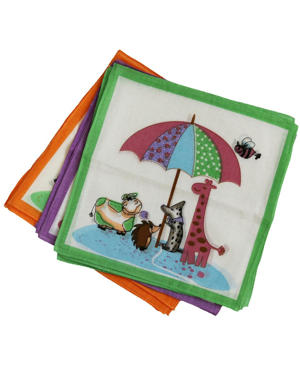 45453 К Zlata Korunka Носовой платок детский, цвет: мультиколор, 27х27 см45453 КПлатки носовые детские в упаковке. Носовые платки изготовлены из 100% хлопка, так как этот материал приятен в использовании, хорошо стирается, не садится, отлично впитывает влагу.