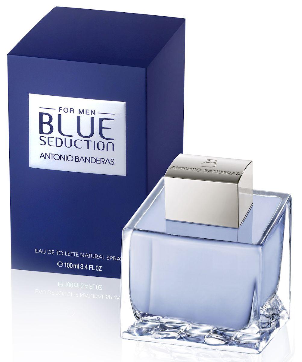 Antonio Banderas Blue Seduction Man Туалетная вода, мужская, 100 мл65023849Туалетная вода Antonio Banderas Blue Seduction, построенная на контрастах, сочетает в себе истинную мужественность и элегантность, спокойную уверенность и жгучий темперамент. Верхние ноты радуют звонкими аккордами прохладной мяты и бергамота, которые смягчают сладкие тона дыни и черной смородины. В сердце пикантные нотки кардамона, мускатного ореха и капучино сбалансированы искрящимися оттенками морской воды и зеленого яблока. Теплый шлейф долго сохраняется на коже, согревая древесными нотами в обрамлении магической амбры. Свежесть, сила и пряность аромата позволяют его обладателю всегда ощущать себя в приятной атмосфере утреннего леса, где под ласковым солнцем блестят капельки росы.