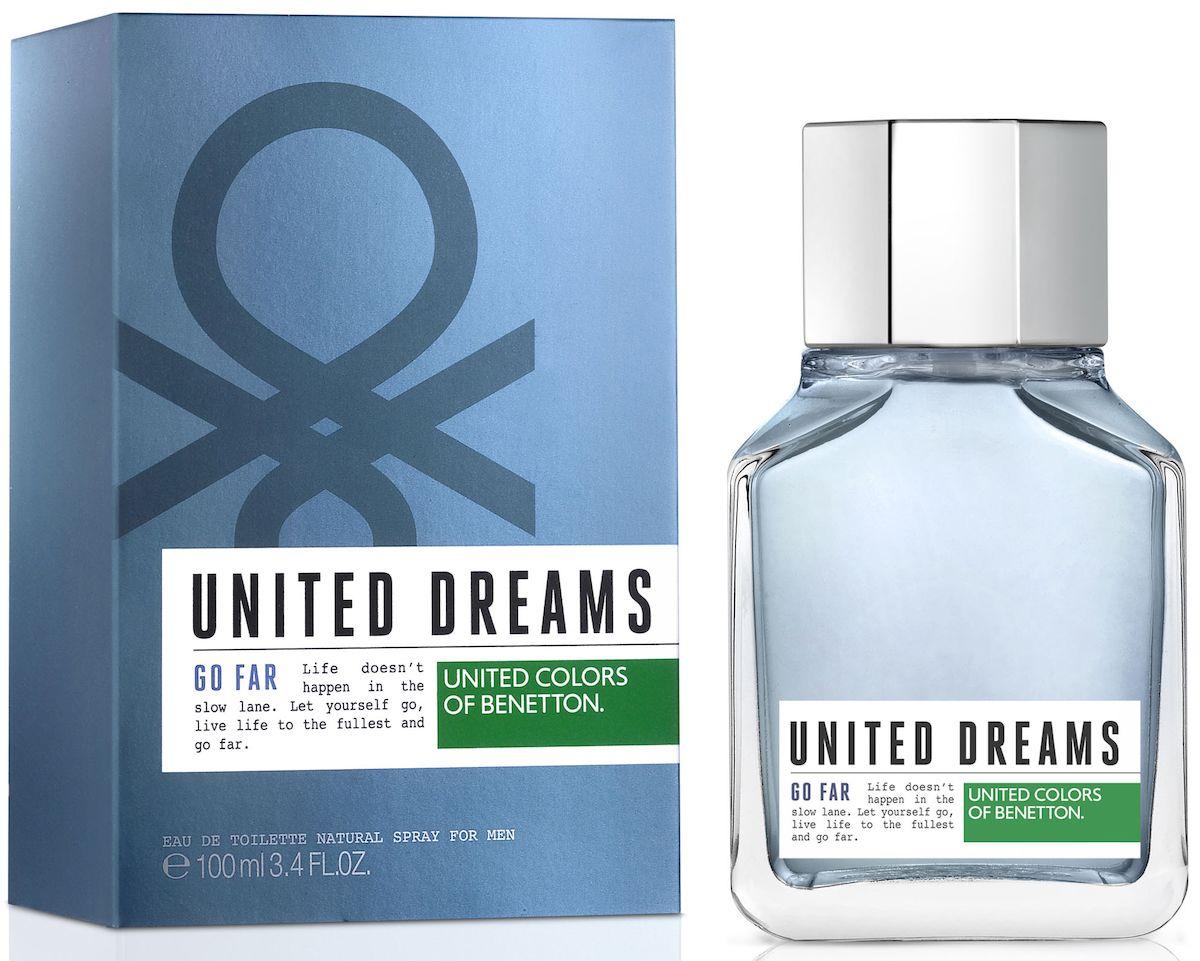 Benetton UD GO FAR Туалетная вода, мужская, 100 мл65102230United Dreams запускает мужскую коллекцию. Три аромата для тех, кто верит в силу мечты, как в движущую силу будущих перемен. Go Far, Be Strong и Aim High: три аромата, которые составляют коллекцию и вдохновляют концепцию преследования мечты до тех пор, по