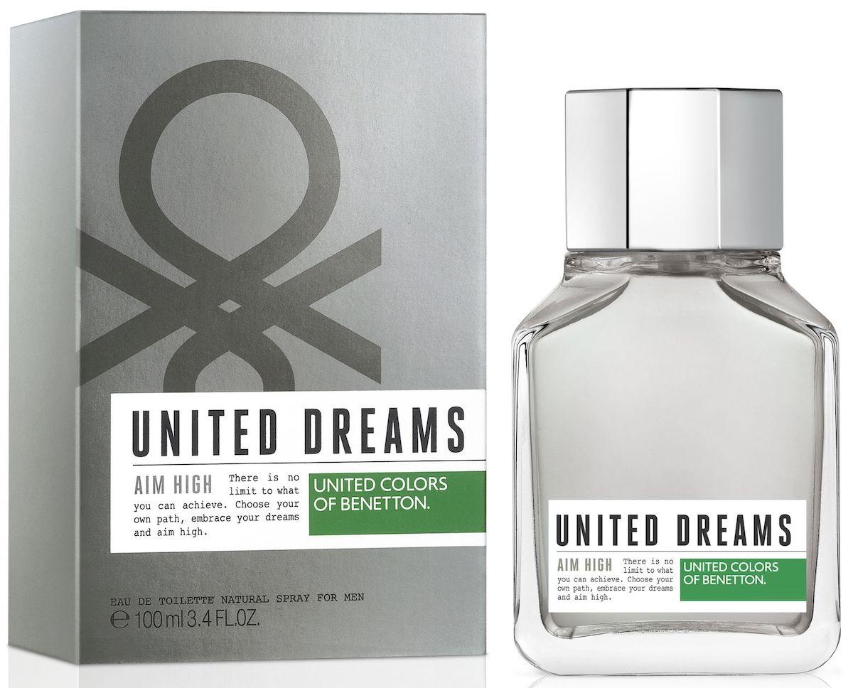 Benetton UD AIM HIGH Туалетная вода, мужская, 100 мл65102232United Dreams запускает мужскую коллекцию. Три аромата для тех, кто верит в силу мечты, как в движущую силу будущих перемен. Go Far, Be Strong и Aim High: три аромата, которые составляют коллекцию и вдохновляют концепцию преследования мечты до тех пор, по