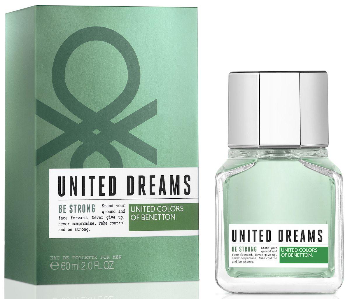 Benetton UD BE STRONG Туалетная вода, мужская, 60 мл65102236United Dreams запускает мужскую коллекцию. Три аромата для тех, кто верит в силу мечты, как в движущую силу будущих перемен. Go Far, Be Strong и Aim High: три аромата, которые составляют коллекцию и вдохновляют концепцию преследования мечты до тех пор, по