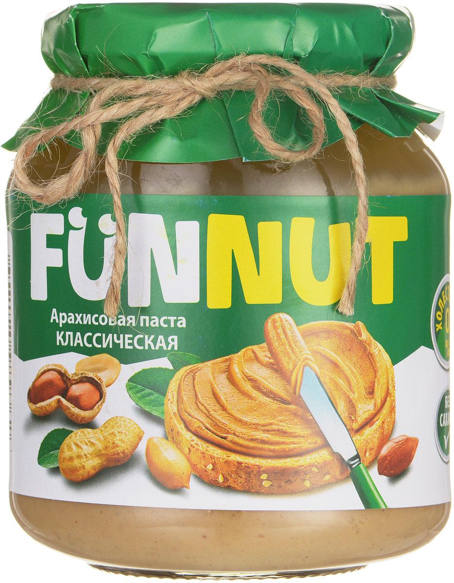Funnut арахисовая паста классическая, 340 г