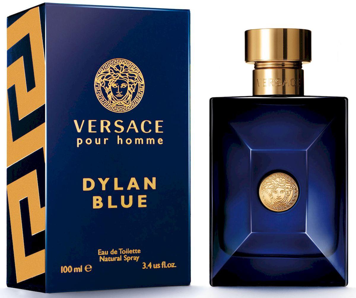 Versace Dylan Blue Туалетная вода 100 мл721010Уникальность этого фужерного аромата заключается в ярком фужерном шлейфе, неповторимом сочетании природных компонентов и синтетических молекул последнего поколения. Аромат: древесный, ароматический, фужерный.