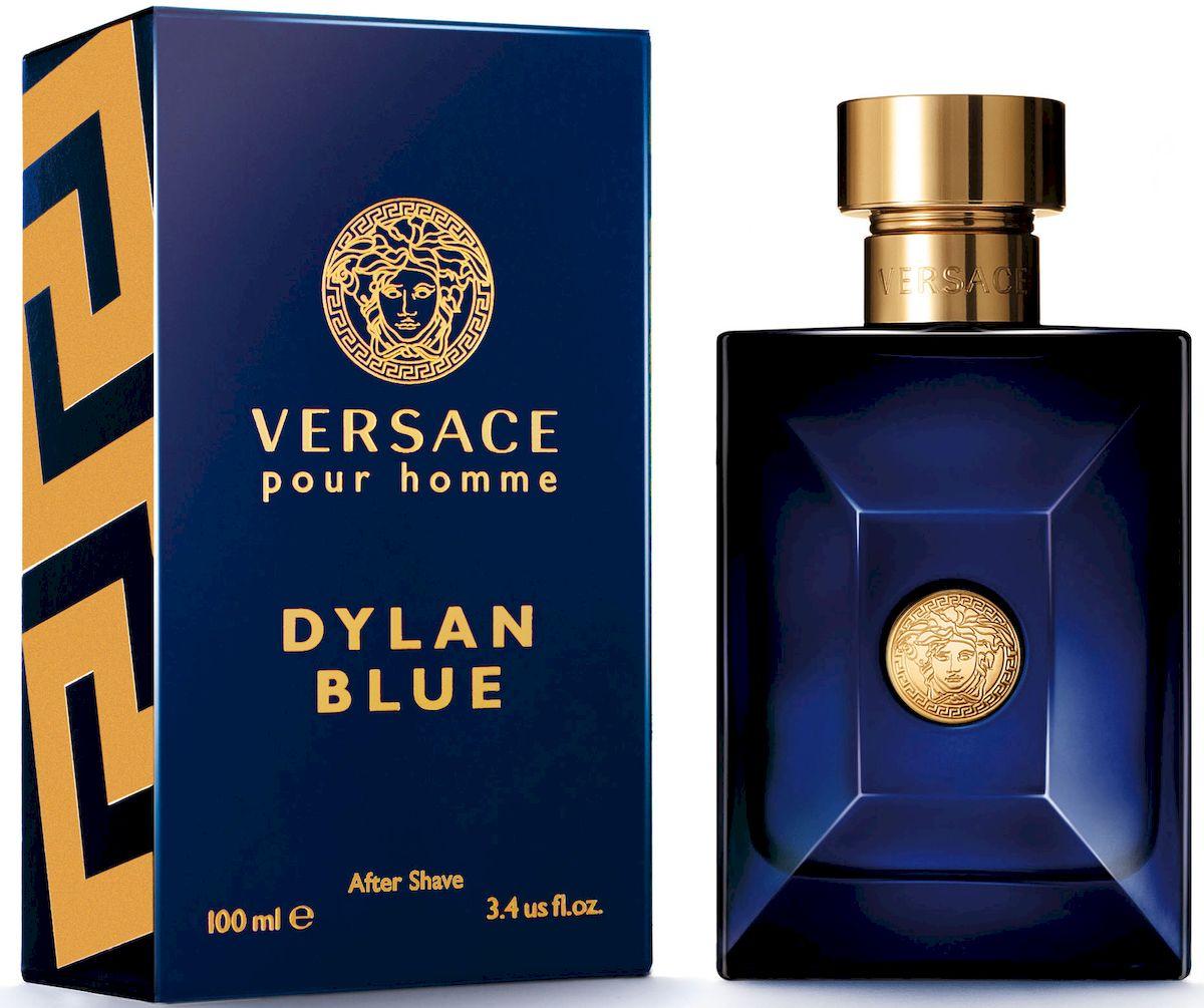 Versace Dylan Blue Лосьон после бритья 100 мл721014Уникальность этого фужерного аромата заключается в ярком фужерном шлейфе, неповторимом сочетании природных компонентов и синтетических молекул последнего поколения. Аромат: древесный, ароматический, фужерный.