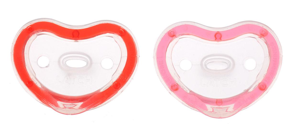 Munchkin Пустышка силиконовая ортодонтическая Latch от 3 до 6 месяцев цвет красный розовый 2 шт11902_красный, розовыйСиликоновую ортодонтическую пустышку Munchkin Latch можно использовать с 3-го месяца жизни малыша. Она разработана детскими стоматологами и мамами, которые стремились создать легкую и удобную для ребенка пустышку. Пустышка, изготовленная из силикона, способствует правильному формированию зубов. Она невероятно легкая, благодаря чему ребенку удобно держать ее во рту. Пустышка максимально повторяет форму соска материнской груди, диск в форме сердечка не давит на носик малыша. Не содержит бисфенол А. Рекомендуемый возраст: от 3 до 6 месяцев. В комплекте 2 пустышки.