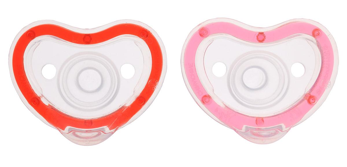 Munchkin Пустышка силиконовая Latch от 0 до 3 месяцев цвет розовый красный 2 шт11662_розовый, красныйСиликоновую пустышку Munchkin Latch можно использовать с первого дня жизни малыша. Она разработана детскими стоматологами и мамами, которые стремились создать легкую и удобную для ребенка пустышку. Пустышка, изготовленная из силикона, способствует правильному формированию зубов. Она невероятно легкая, благодаря чему ребенку удобно держать ее во рту. Пустышка максимально повторяет форму соска материнской груди, диск в форме сердечка не давит на носик малыша. Не содержит бисфенол А. Рекомендуемый возраст: от 0 до 3 месяцев. В комплекте 2 пустышки.
