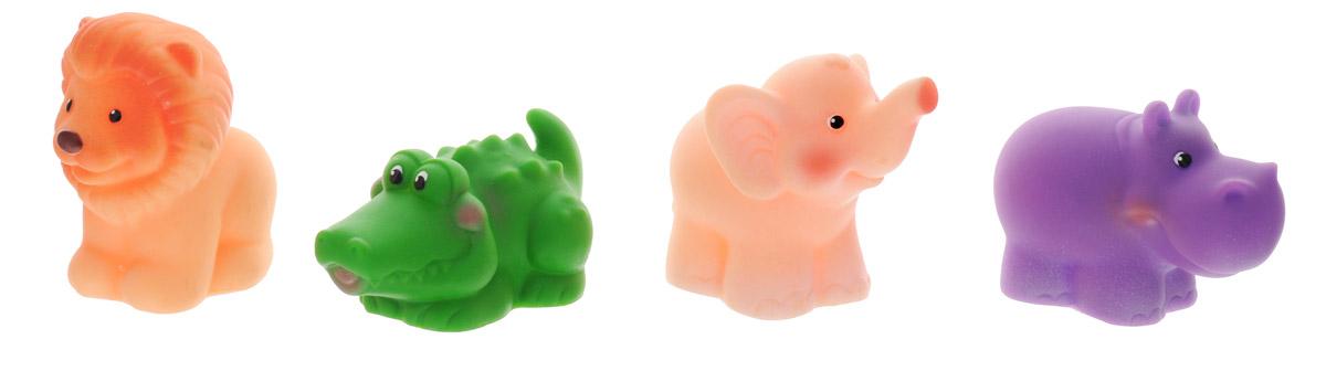 Огонек Набор игрушек для ванной Африка 4 штС-1192С набором игрушек для ванной Огонек Африка принимать водные процедуры станет еще веселее и приятнее. Набор включает в себя четыре игрушки: крокодила, слоника, льва и бегемота. Все составляющие набора приятны на ощупь, имеют удобную для захвата маленькими пальчиками эргономичную форму и быстро сохнут. Забавным дополнением будет возможность игрушек брызгать водой при сжатии. Устраивайте водные сражения! Набор игрушек для ванной Огонек Африка поможет малышам приспосабливаться к водной среде, а процесс принятия водных процедур сделает веселым и увлекательным.
