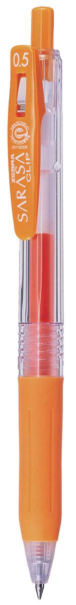 Zebra Ручка гелевая Sarasa Clip оранжевая